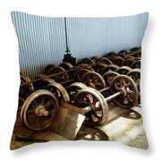 Cable Car Wheels, Repair Shop Throw Pillow