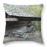 Cable Mill Barn Throw Pillow