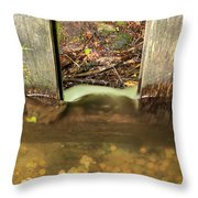 Cable Mill Flume 1 A Throw Pillow