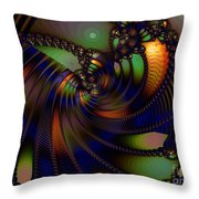 Cable Tie Tracks Throw Pillow