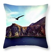 Cabo And The Cliffs Throw Pillow