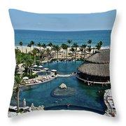 Cabo Azul Throw Pillow