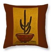Cabo Cactus Throw Pillow