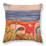 Cabo Garden Throw Pillow