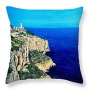 Cabo La Nao Lighthouse Javea Spain Throw Pillow