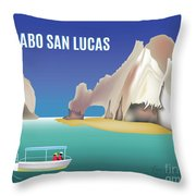 Cabo San Lucas Mexico Horizontal Scene Throw Pillow