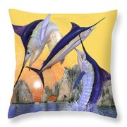 Cabo San Lucas Throw Pillow by Rick Bogert