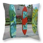 Cabo Surfboard Sculpture 1 Throw Pillow