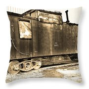 Caboose Black And White Throw Pillow