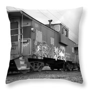 Caboose X 3 Throw Pillow