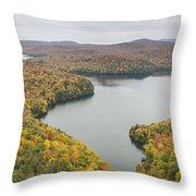 Cabot Vermont Nichols Pond Autumn Throw Pillow