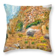 Cabra Throw Pillow