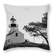 Cabrillo Lighthouse 3 Throw Pillow