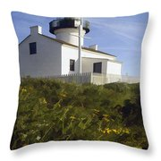 Cabrillo Lighthouse Throw Pillow