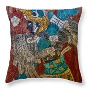 Cacaxtla Warrior II Throw Pillow