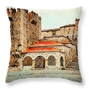 Caceres Spain Artistic Throw Pillow