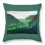 Cache Le Pudre Valley Throw Pillow