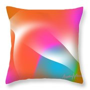 Cacophony Of Color Throw Pillow
