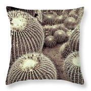 Cacti Community Throw Pillow