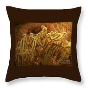Cacti Family Reunion Throw Pillow