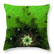 Cactus Abstract Throw Pillow