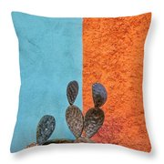Cactus And Colorful Wall Throw Pillow