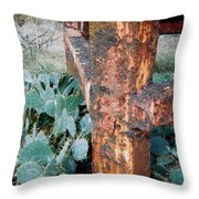 Cactus And Rust Throw Pillow