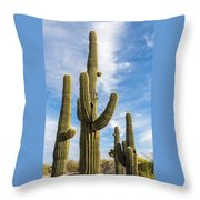 Cactus Arms Throw Pillow
