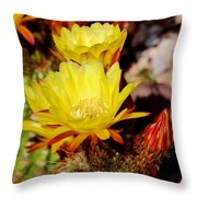 Cactus Bloom In Yellow 050715ab Throw Pillow