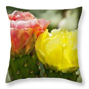 Cactus Bouquet Throw Pillow