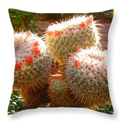 Cactus Buds Throw Pillow