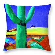 Cactus By Nixo Throw Pillow