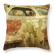 Cactus Car Throw Pillow