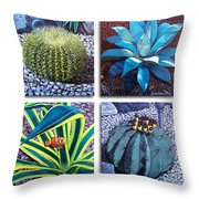 Cactus Close Ups Throw Pillow