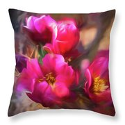 Cactus Flower 07-002 Throw Pillow