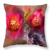Cactus Flower 07-003 Throw Pillow