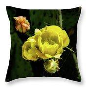 Cactus Flower 07-010 Throw Pillow