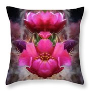 Cactus Flower 07-02 S08 Throw Pillow