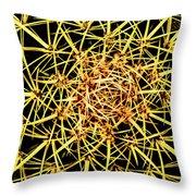 Cactus From Top Throw Pillow