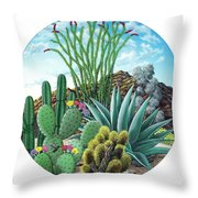 Cactus Garden 2 Throw Pillow