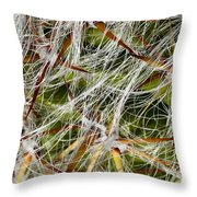 Cactus Hair Throw Pillow
