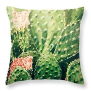 Cactus In Blossom  Throw Pillow