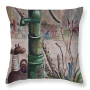 Cactus Joes' Pump Throw Pillow