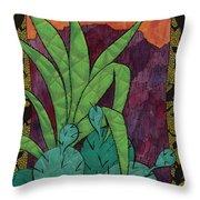 Cactus Lizards Throw Pillow