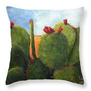 Cactus Pears Throw Pillow
