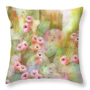 Cactus Rose Throw Pillow