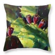 Cactus Shadows Throw Pillow