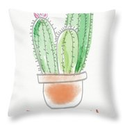 Cactus Thank You - Art By Linda Woods Throw Pillow by Linda Woods