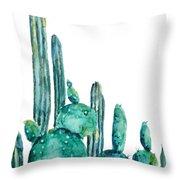 Cactus Watercolor 1 Throw Pillow