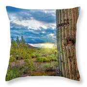Cactus With Teeth Throw Pillow
